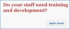 Do your staff need training and development? Click here
