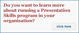Do you want to learn more about running a Presentation Skills program?